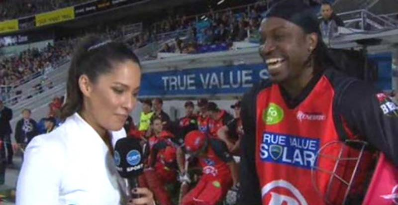 Chris Gayle criticised for asking out journalist during BBL interview