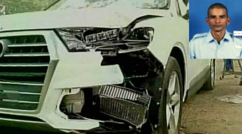 Son of Indian politician runs over air force officer