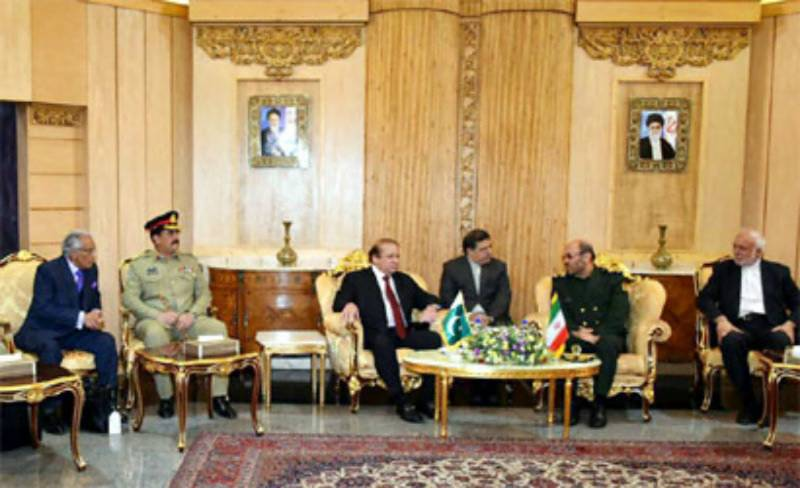 PM, COAS Raheel meet Iranian President Rouhani