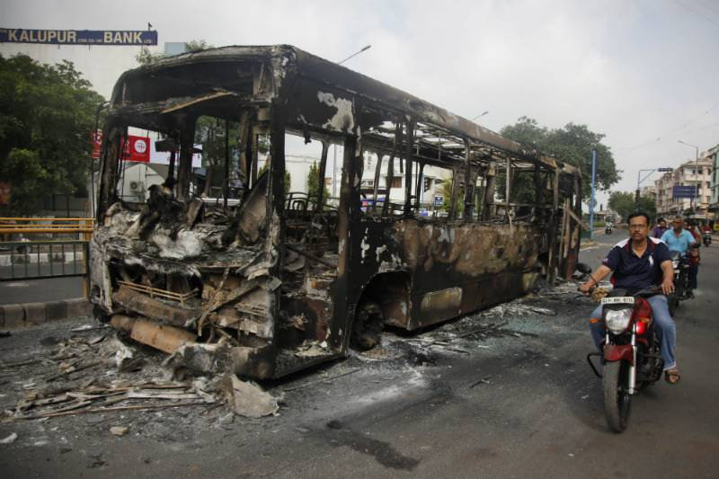 Curfew in India after violent protests over caste rights