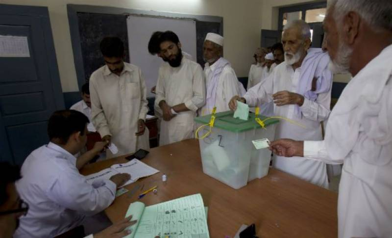 Polling underway for KPK local bodies by-elections