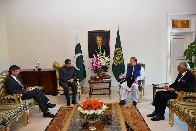 Indian HC Gautam Bambawale calls on PM Nawaz