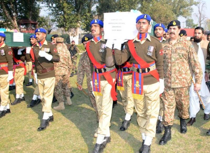Gen Raheel Sharif attends funerals of army martyrs