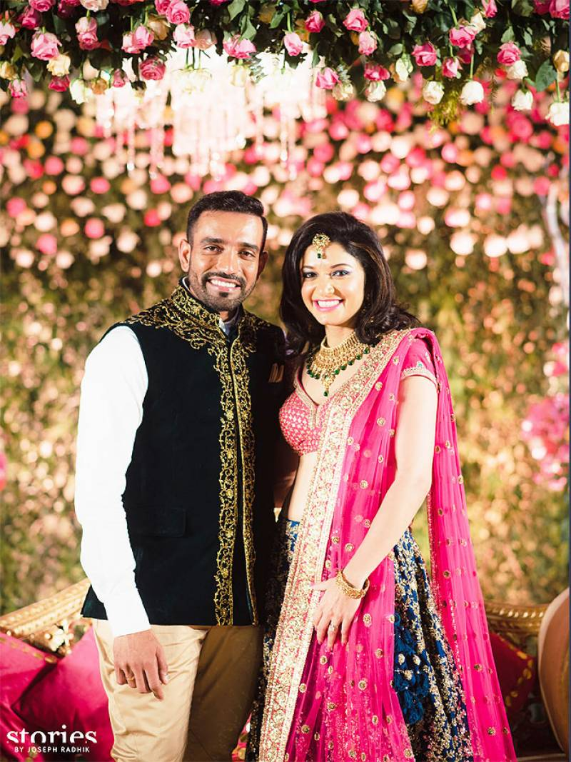 PICS: Indian cricketer Robin Uthappa ties knot with Sheethal Goutham