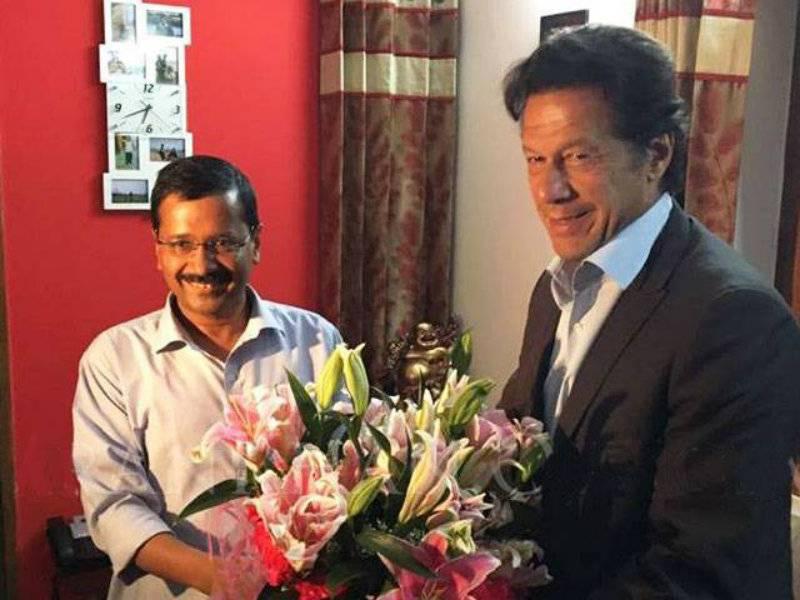Imran Khan meets Delhi CM Arvind Kejriwal