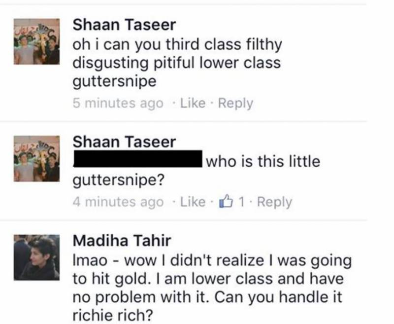Shaan Taseer gets into an online fistfight over Feminist protest - and it gets ugly