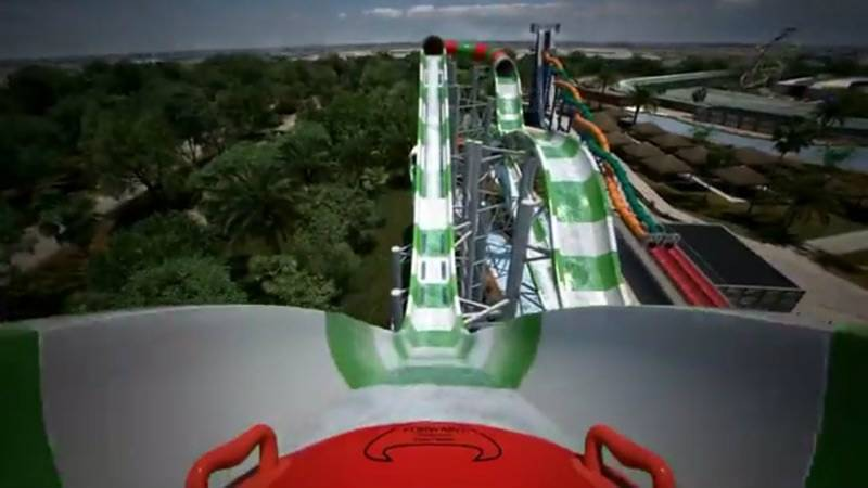 Take a digital RIDE of World's Tallest WATER COASTER