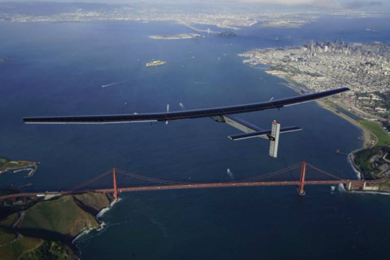 Solar-powered plane lands in California after Pacific flight