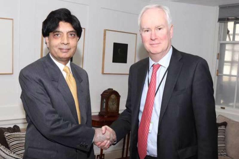 Nisar meets UK national security advisor