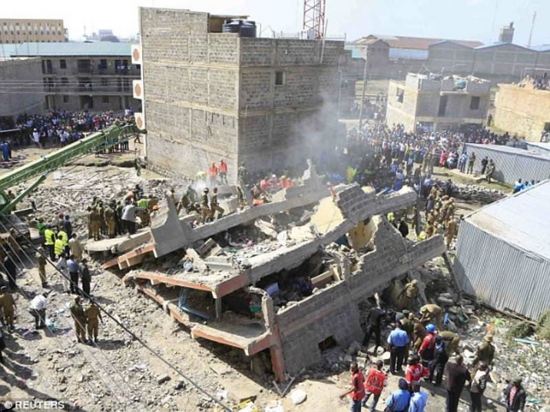 14 dead, 54 missing in building collapse in Kenya