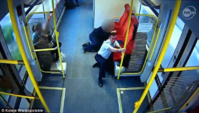 Polish train driver warns people before crash