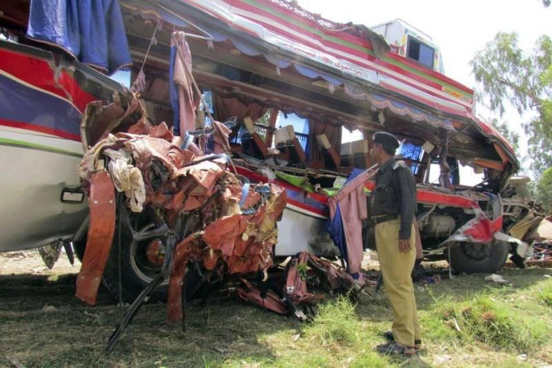Collision near Dera Murad Jamali leaves four dead, 13 injured
