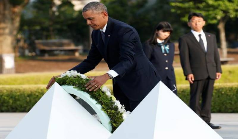 Obama visits Hiroshima; offers no apology for atomic attack that killed 140,000