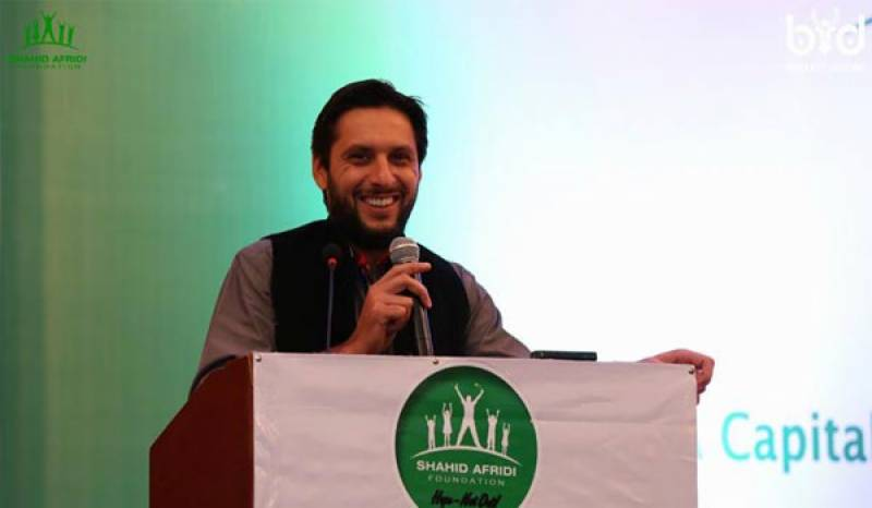 Shahid Afridi Foundation wins international award