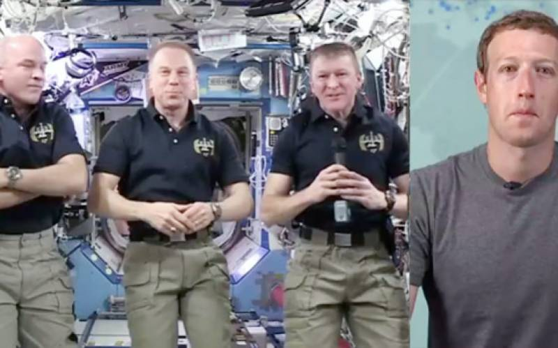 Zuckerberg streams live chat with men in space