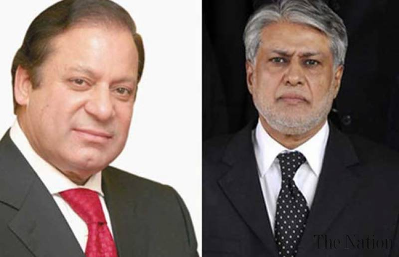PM Nawaz congratulates Ishaq Dar for presenting poor friendly budget