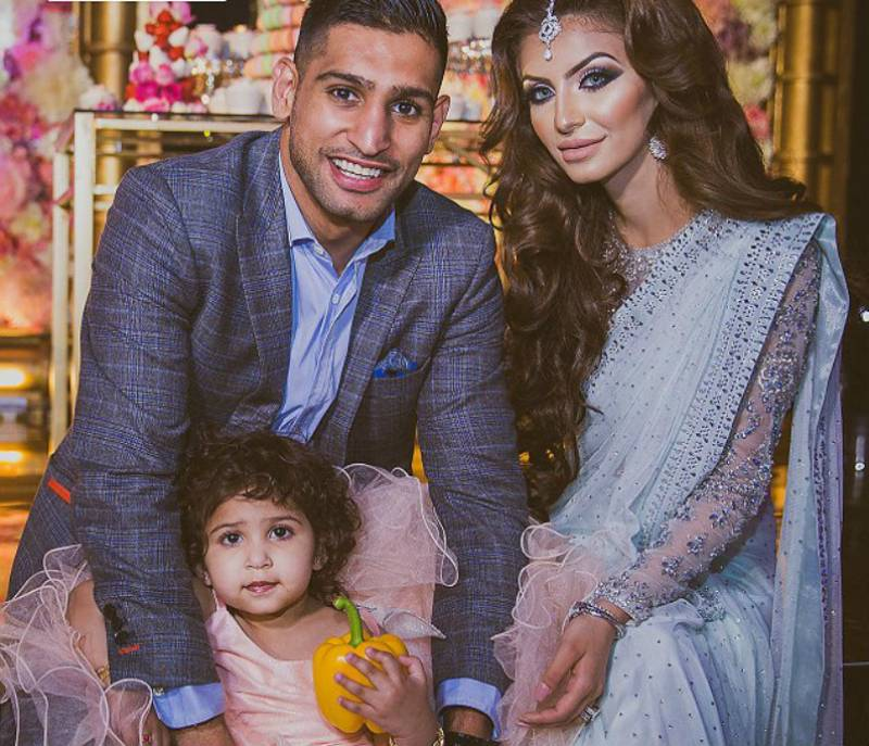 Height of extravagance: Pakistani boxer Amir Khan splashes £100,000 on daughter's 2nd birthday