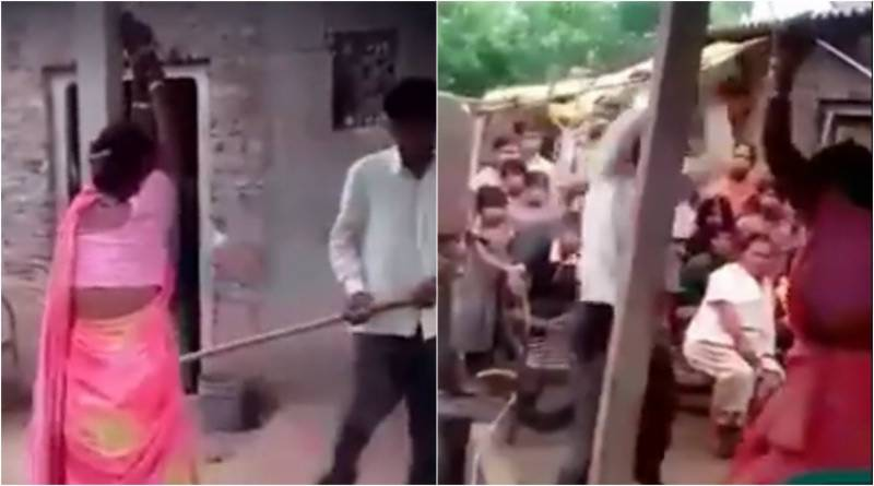 Shocking video of Indian man beating his wife, 'her lover' sparks online debate on 'equality in violence'