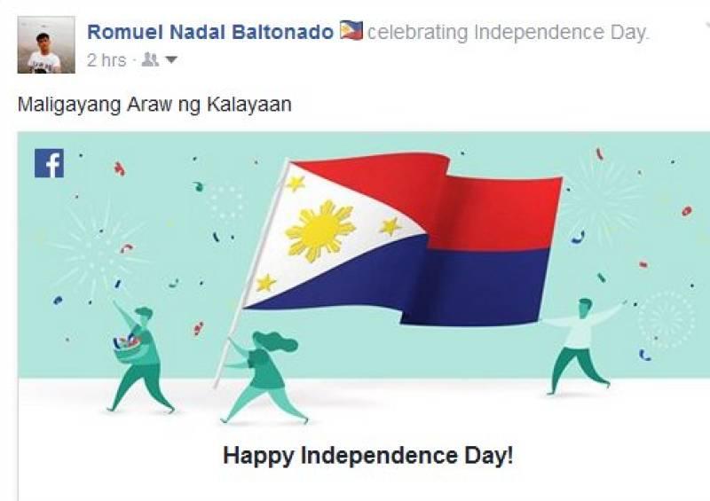 Facebook mistakenly declares Phillippines at war, uploads incorrect flag