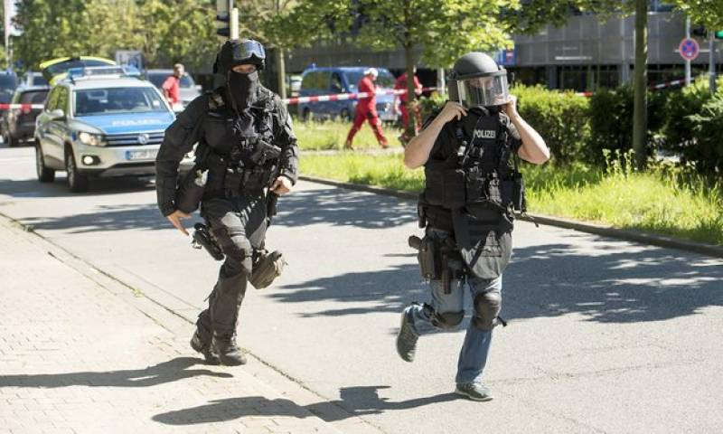 Germany shooting: attacker killed after opening fire in cinema complex