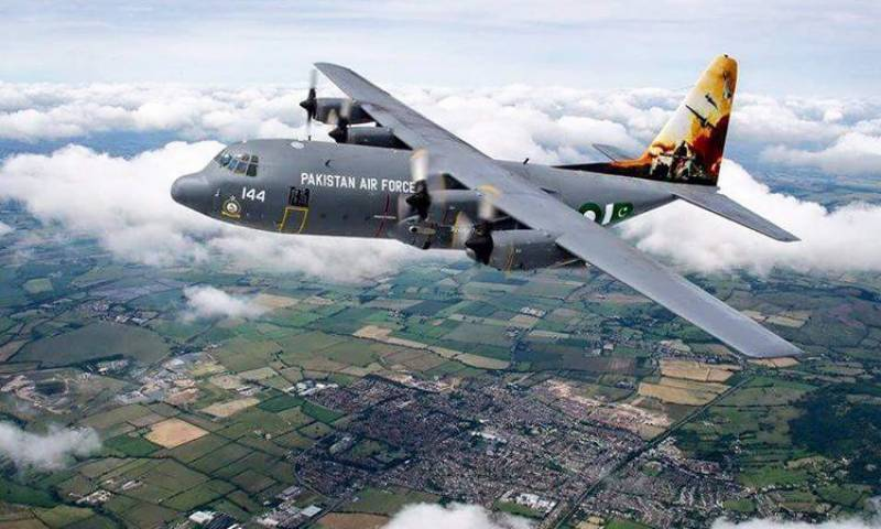 PAF C-130 centre of attraction at 2016 Royal International Air Show