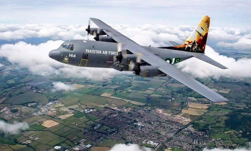 Elegant PAF C-130 Hercules wins artwork honors at International air show in UK