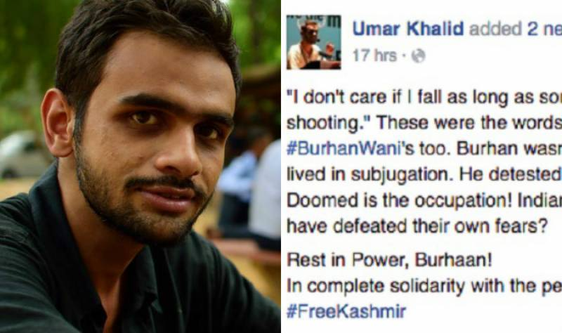 On-bail JNU activist harassed for comparing Burhan Wani to legendary revolutionary Che Guevara