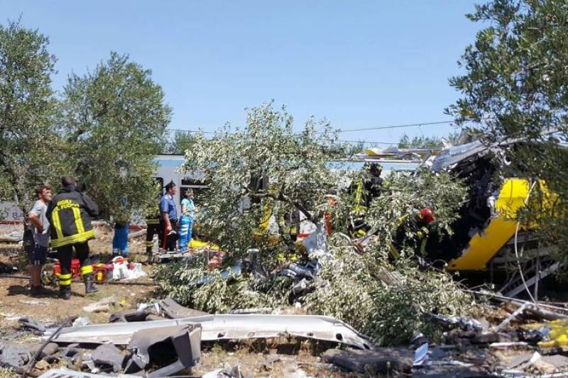 Italy train crash leaves 20 dead, 50 injured