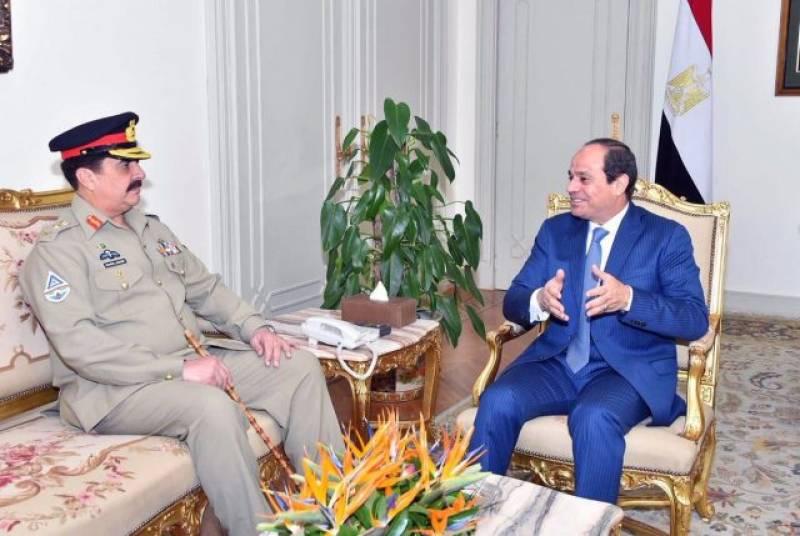 Gen Raheel Sharif meets Egyptian President Sisi