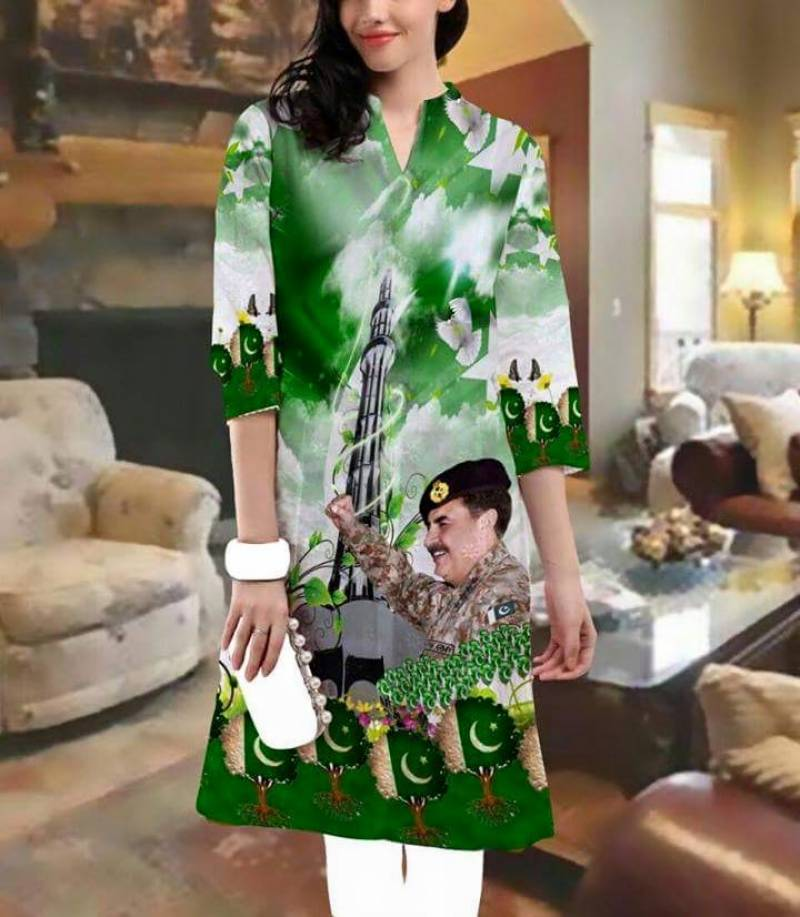 Karachi-based fashion designer wants women to wear Raheel Sharif this Independence Day