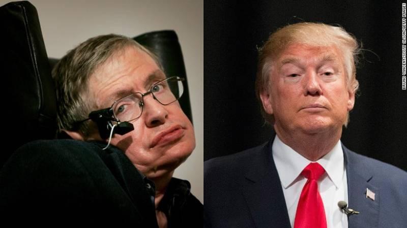 Physics genius Stephen Hawking explains Donald Trump in two simple words