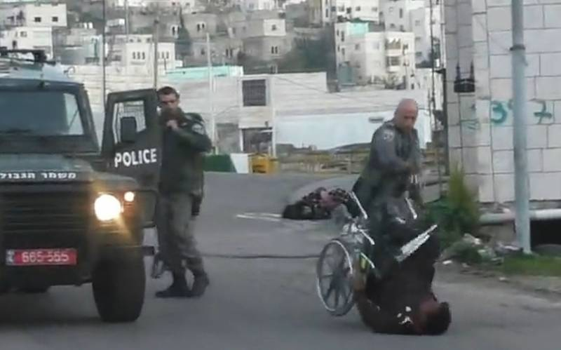 Shocking video of Israeli police doing the unthinkable to Palestinian man in wheelchair