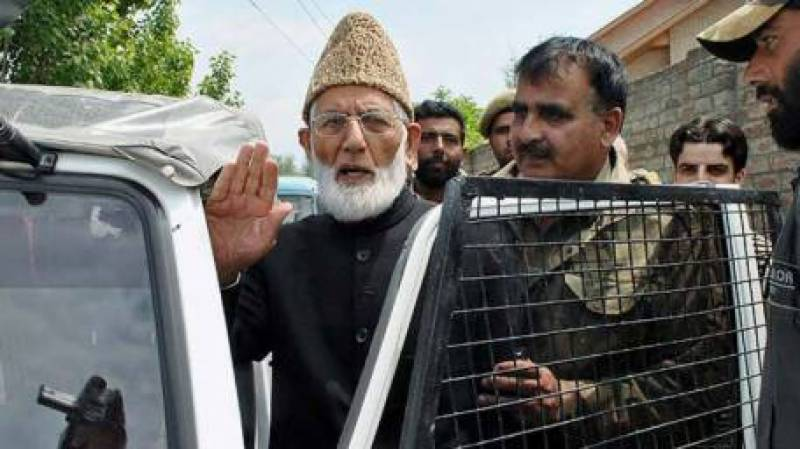 Indian police arrest Hurriyet leader Syed Ali Gilani in Srinagar