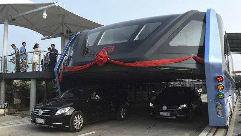Watch: China's tunnel-like bus hits roads