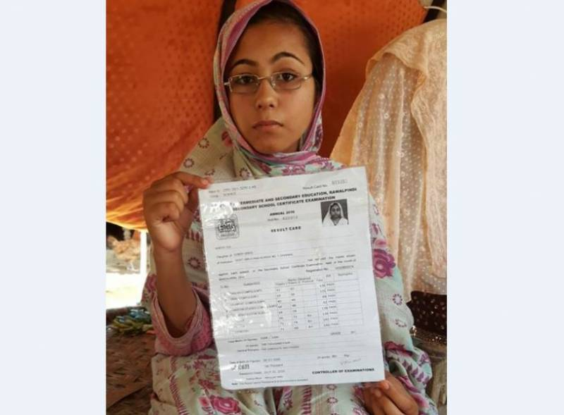 This orphan slum girl from Chakwal overcame all odds to obtain 1,004 marks in SSC exam and now she wants to become a doctor