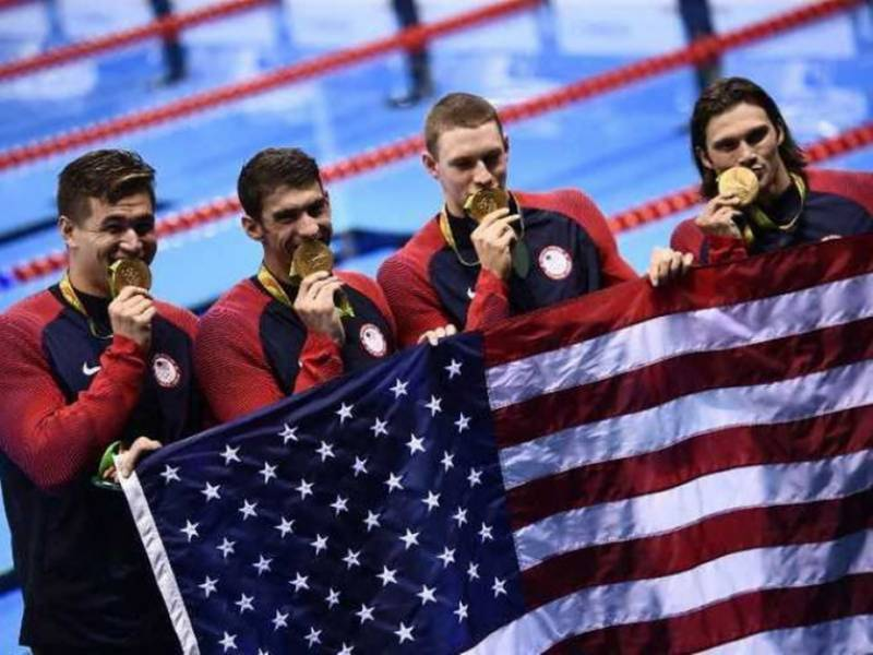 Rio Olympics 2016: US leads with 72 medals including 26 gold