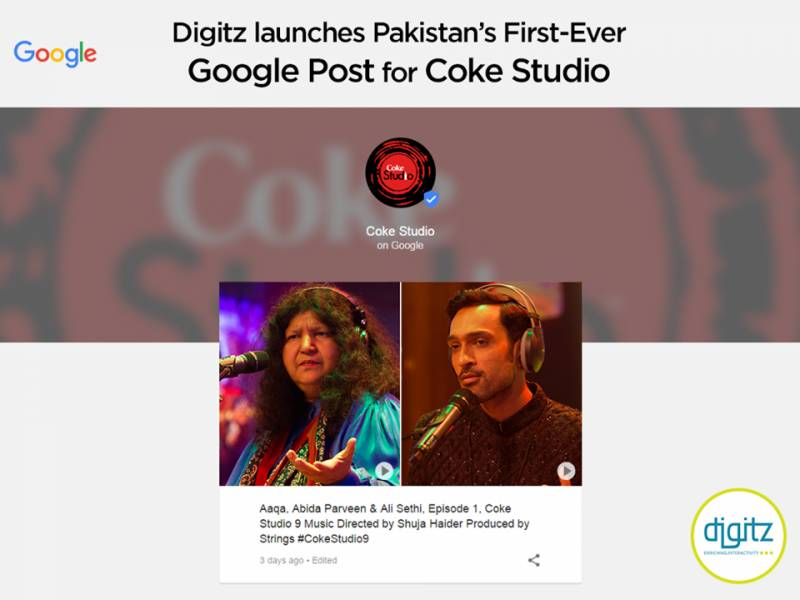 Digitz launches Pakistan's first-ever Google post for Coke Studio