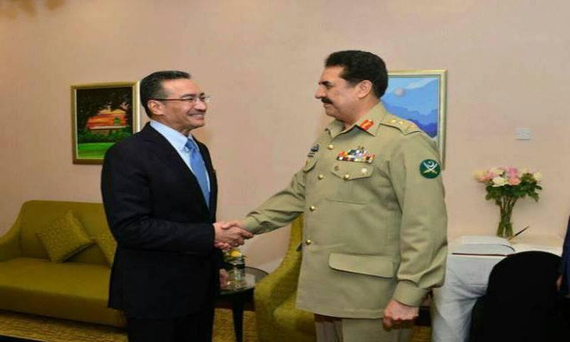 Raheel Sharif meets Malaysian civil, military leadership