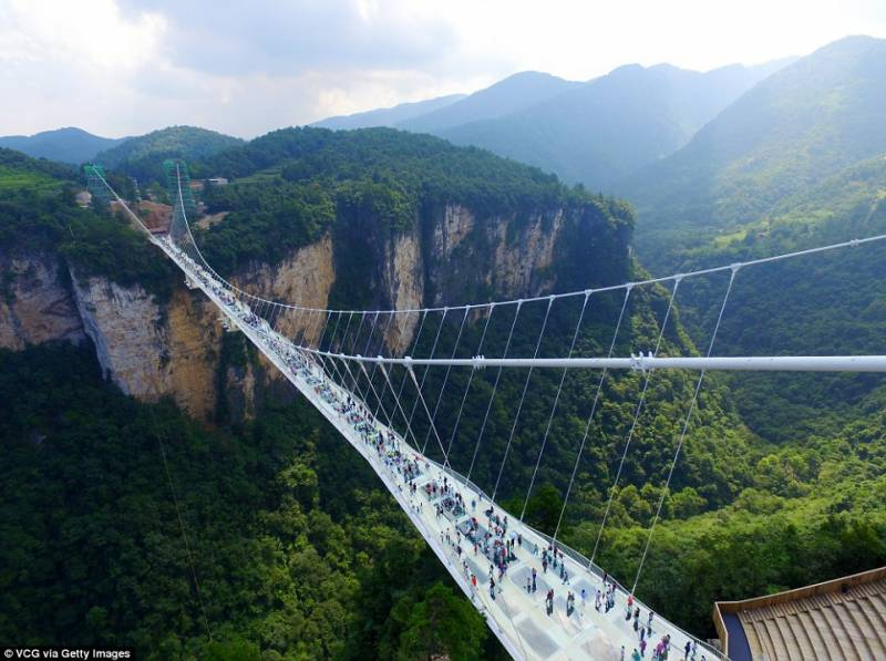 World's highest and longest glass bridge opens in China
