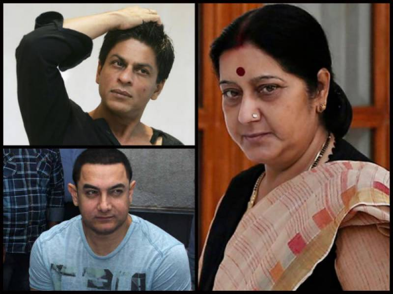 Sushma Swaraj lashes out at Shahrukh, Aamir & others for opting surrogacy!