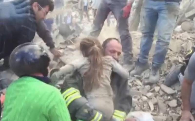 VIDEO:10-year-old Italian girl trapped for 17 hours pulled from rubble ALIVE