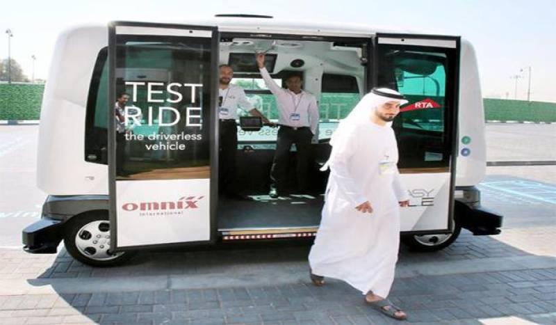 Dubai unveils its first driverless minibus