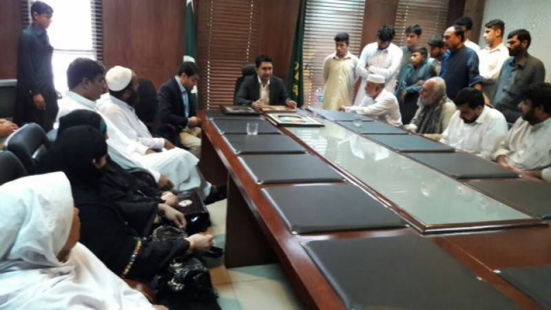 Families of APS victims protest in Federal Capital