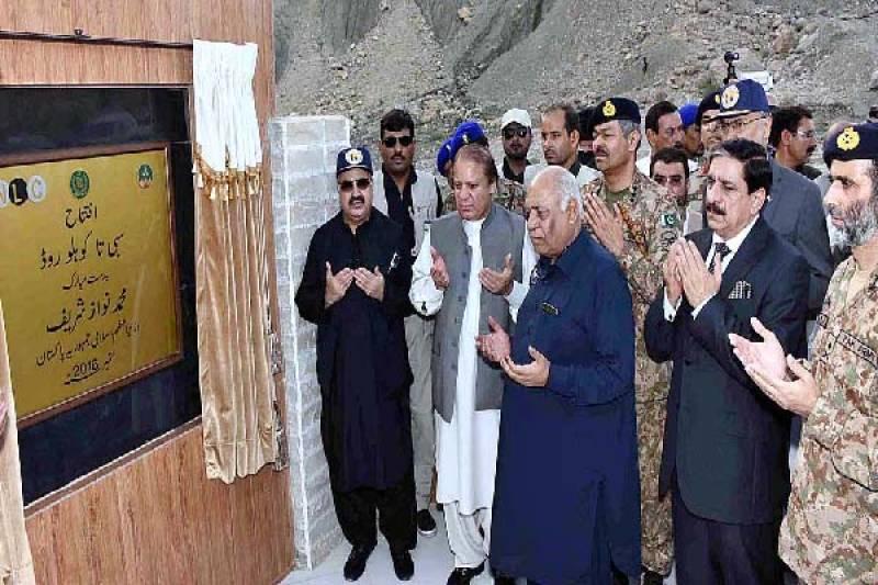PM Nawaz inaugurates 174-kilometer Sibbi-Kohlu road