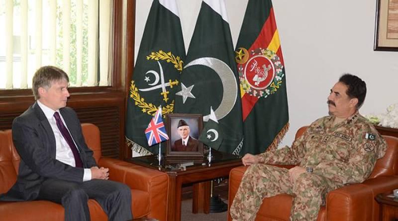 UK's Special Envoy Owen Jenkins calls on General Raheel Sharif