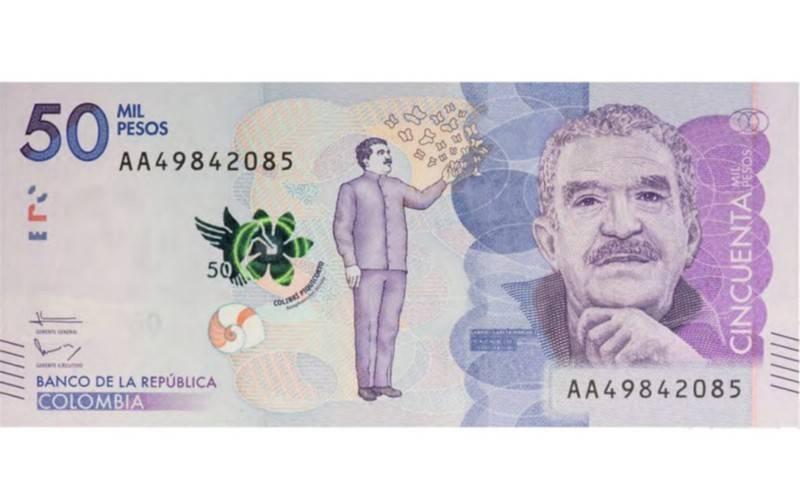 Gabriel García Márquez to grace new Colombian 50,000-peso note