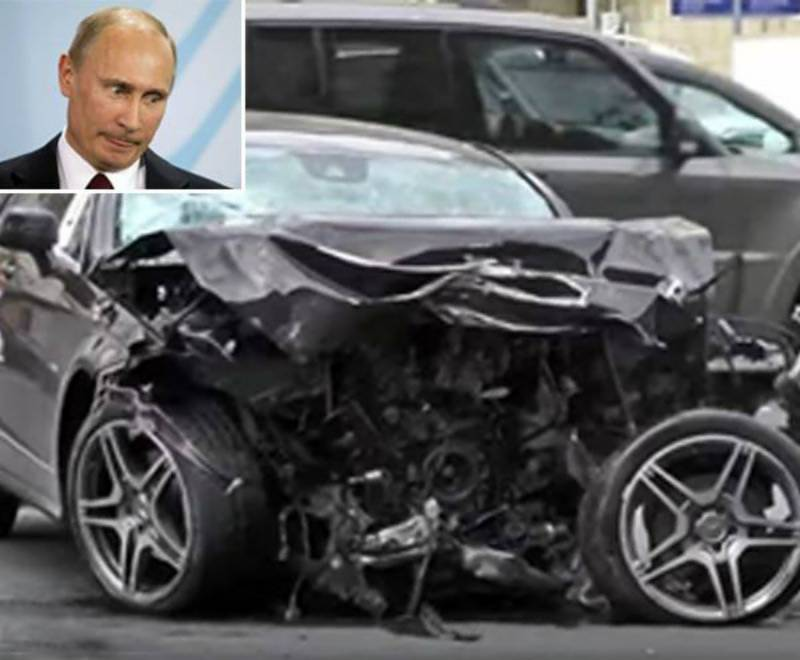 VIDEO: Putin's personal driver killed in a head-on crash while driving the Russian President's official BMW