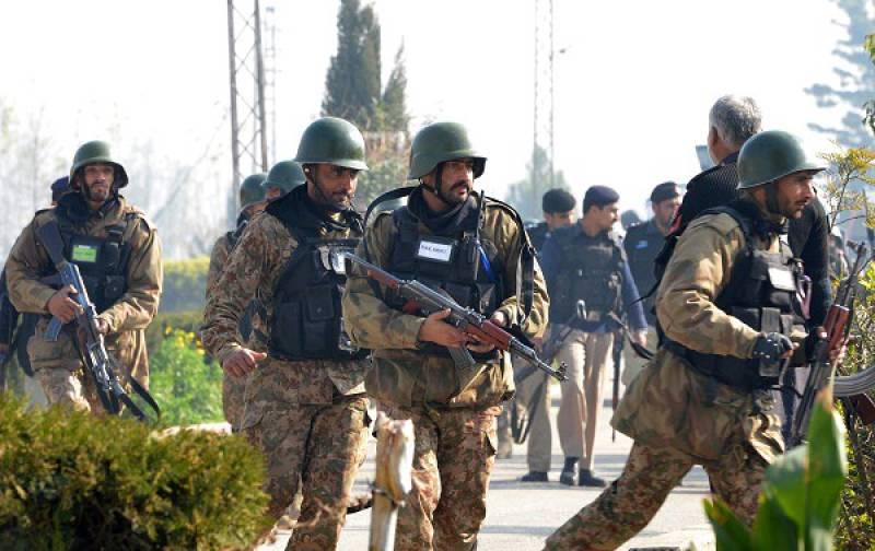 Eight terrorists killed in combing operation at Gayandari