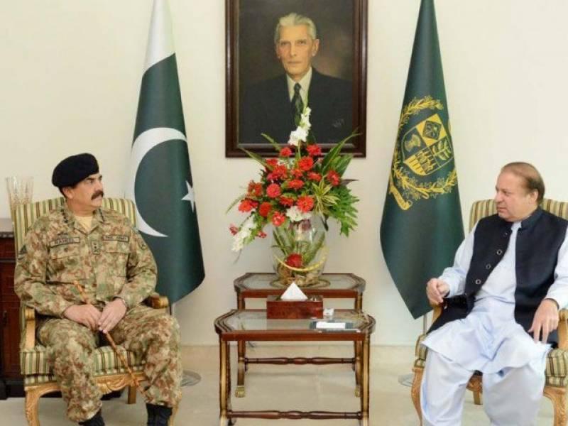 Gen Raheel Sharif calls on PM Nawaz in Islamabad