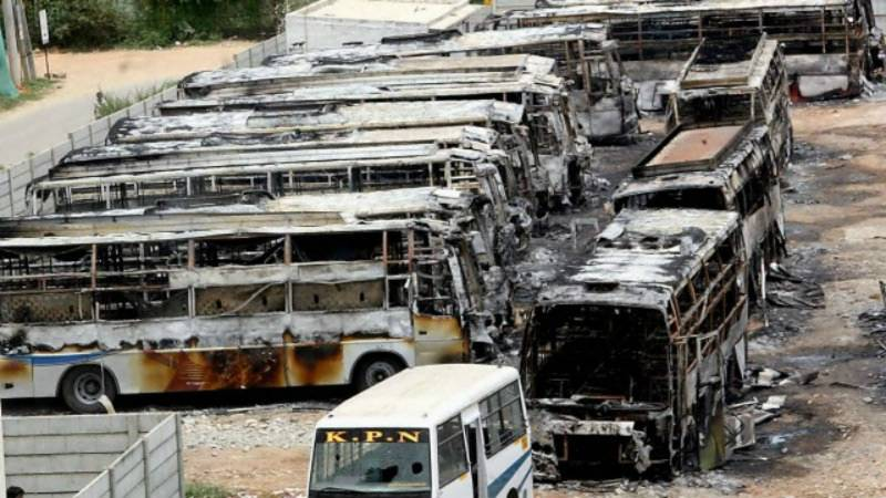 India unrest: Woman set ablaze 42 buses for Rs100 and biryani